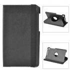 Protective 360 Degree Rotation PU Leather Case for Google Nexus 7 II - Black