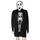 HONGCHONGZI Gruesome Skull Mask + Ghost Apparel Halloween Costume - Black + White