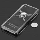 Protective One-eye Pirate Skull Pattern Plastic Case w/ LED Flashlight for Iphone 5C - Black