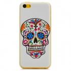 Protective Skeleton Pattern Plastic Back Case for Iphone 5C - White + Multicolor