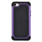 Detachable 2-in-1 Protective Silicone + TPU Back Case for iPhone 5c - Purple + Black