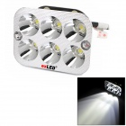 exLED 30W 1800lm 6-LED White Headlight Spotlight for Electric Car / Motorcycle / Scooter - (12V)