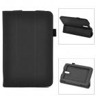 Protective PU Leather Flip Open Case for Huawei Media Pad 7 Vogue S7-601c - Black