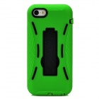 Protective Silicone + TPU Back Case w/ Stand for Iphone 5C - Green + Black