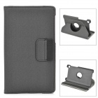 360 Degree Rotating Protective PU Case w/ Card Slots for Google Nexus 7 II - Black