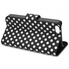 Stylish Polka Dot Pattern Protective Flip Open Case for Iphone 5C - Black + White