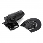 Convenient Quick-release Nylon + Plastic Waist Pistol Holder for M92 - Black