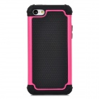 Detachable 2-in-1 Protective Silicone + TPU Back Case for Iphone 5C - Deep Pink + Black