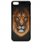 3D Tiger Pattern Protective ABS+PC Back Case for Iphone 5C - Brown + White + Black