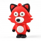 Cute Cartoon Fox Style USB 2.0 Flash Driver Disk - Red (8GB)