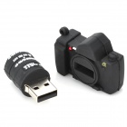 Cute Cartoon Camera Style USB 2.0 Flash Driver Disk - Black (4GB)