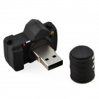 Cute Cartoon Camera Style USB 2.0 Flash Driver Disk - Black (16GB)