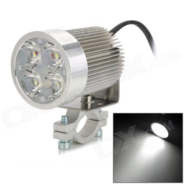 exLED 12W 1200lm 4-LED White Headlamp Spotlight for Electric Car / Motorcycle - (10~85V) exled electric cars motorcycle led headlights modification lens strong light