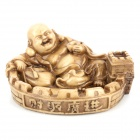 Unique Maitreya Buddha Style Resin Ash Tray Artwork - Brown