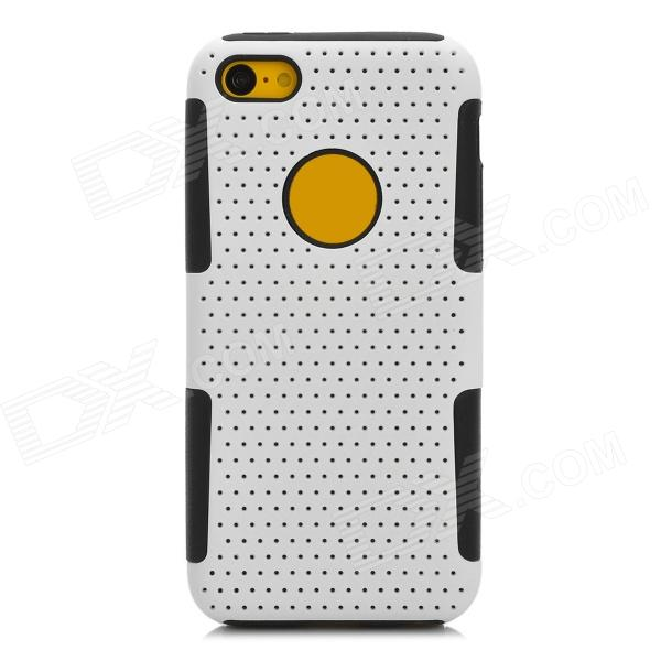 все цены на  Y-4-2-5 Ultrathin Protective PC + Silicone Back Case for Iphone 5C - White + Black