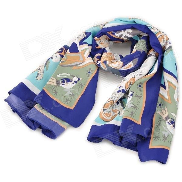 Fashion Artificial Silk Kerchief Shawl - Multicolored