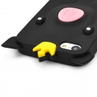 PG-5C Pig Style Protective Silicone Back Case for Iphone 5C - Black + Pink + White + Yellow