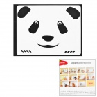 "Creative Panda Face Style Decoration Sticker for Macbook 11"" / 13"" / 15"" / 17"" - Black"