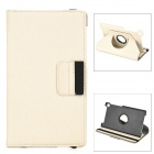 360 Degree Rotating Protective PU Leather Case w/ Card Slots for Google Nexus 7 II - Beige
