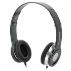 OVLENG OV-X1 Stylish Stereo Headphones w/ Microphone - Black + Silver (3.5mm Plug / 1.2m)