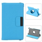 360 Degree Rotating Protective PU Leather Case w/ Card Slots for Google Nexus 7 II - Blue