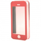 Protective Plastic + PU Leather Flip Case for Iphone 5C - Pink