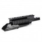 Triple Picatinny Steel Rail Mount for AK Guns / Imitation Guns - Black