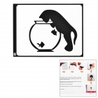 "Creative Cat Style Decoration Sticker for Macbook 11"" / 13"" / 15"" / 17"" - Black"