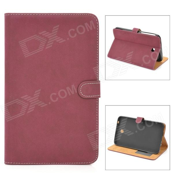 Protective PU Leather Flip Open Case for Samsung Tab 3 T210 / P3200 - Amaranth