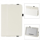 Lichee Pattern Protective PU Case w/ Stand for Microsoft Surface PRO - White