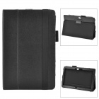 Lichee Pattern Protective PU Case w/ Stand for Microsoft Surface PRO - Black