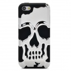 Detachable Skull Protective Silicone + Plastic Back Case for Iphone 5C - Silver + Black