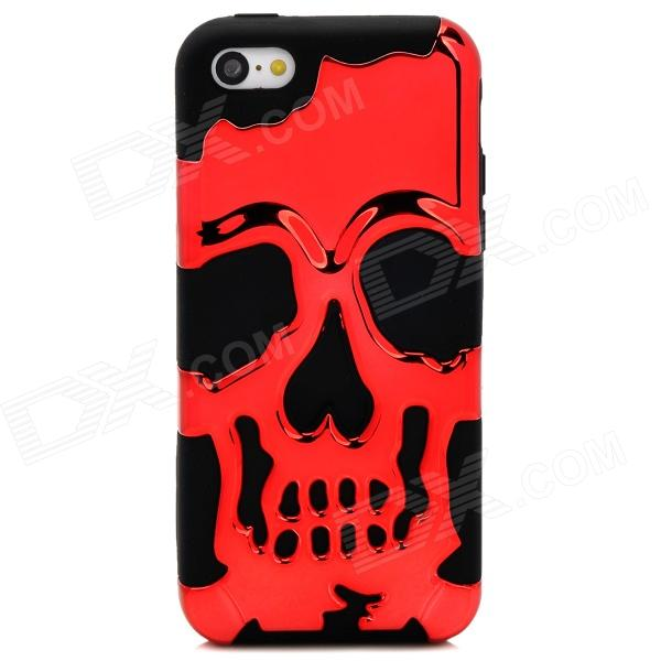 все цены на 3D Skeleton Protective Silicone + TPU Back Case for Iphone 5C - Deep Red + Black онлайн
