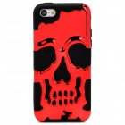 3D Skeleton Protective Silicone + TPU Back Case for Iphone 5C - Deep Red + Black