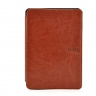 Protective PU Leather Case for Kindle Touch E-Book - Brown