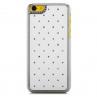 Protective Rhinestone Starry Style Back Case for Iphone 5C - White + Silver
