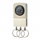 Universal Multifunctional Car Zinc Alloy Key Chains w/ Compass - Black + Silver