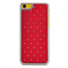 Protective Rhinestone Starry Style Back Case for Iphone 5C - Deep Red + Silver