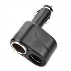 WF-5 1-to-2 Car Cigarette Lighter Splitter - Black (1A / 12~24V)