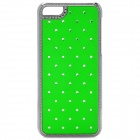 Protective Plastic Back Case for Iphone 5C - Green + Silver