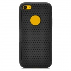 Y-4-2-2 Ultrathin Protective PC + Silicone Back Case for Iphone 5C - Black