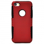 Y-4-2-6 Protective PC + Silicone Back Case for Iphone 5C - Deep Red + Black