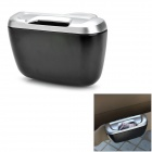 ShunWei Car Hanging Trash Can - Black + Silver