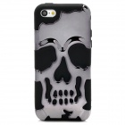 3D Skeleton Protective Silicone + TPU Back Case for Iphone 5C - Celadon + Black