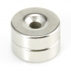 Round Hole NdFeB Magnets - Silver (2 PCS)