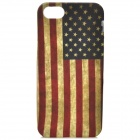 Retro U.S. National Flag Pattern Protective PVC Back Case for Iphone 5S - Red + Light Green + Black