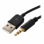 micro USB a 3,5 mm TRS cable AUX coche + USB para Samsung S3 - negro