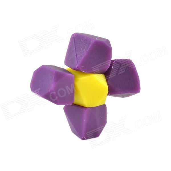 CHEERLINK GS-05 Muli-Function Candy Color Small-stone-shaped Magnetic Sticker - Purple + Yellow