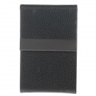 4111 Fashionable Lichee Pattern Portable Magnet Design Cigarette Case / Card Box - Black