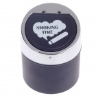 982B Stylish Creative Zinc Alloy Spring Lid Ashtray - Silver + Black